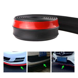 Universal 2 5m 8 2ft Car Front Lip Bumper Rubber Strip Protector With Adhesive