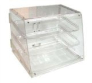 Food Display Cabinet 3 Tier Pastry Case Acrylic Bakery Counter Top Clear Durable