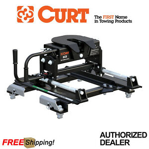 Curt E16 5th Wheel Trailer Hitch With Slider For 2016 2019 Silverado 2500 3500