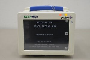 Welch Allyn Propaq Cs Model 244 Patient Monitor Spo2 Nibp Ecg Ekg 16110
