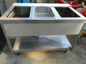 Commercial Kitchen 3 Bay Open Well Steam Table electric 110v
