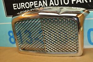 05 09 Bentley Arnage T Front Hood Grill Grille Chrome