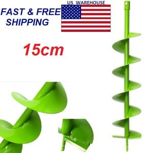 Auger Drill Bit Electric Post Hole Digging Digger For Soil Ice Fence Decks 15cm