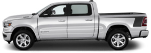 Rear Bedside Hockey Vinyl Graphic Decal Stripes For Dodge Ram 1500 2019 Up