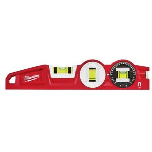 Milwaukee 48 22 5210 10 Die Cast Torpedo Level With 360 Degree Locking Vial