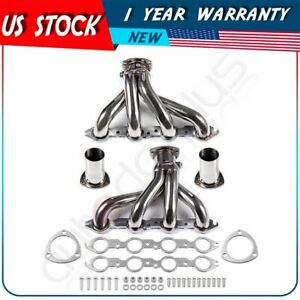 Stainless Racing Shorty Exhaust Header Manifold For Chevy Small Block Mark Iv