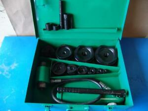 Greenlee 7310 Hydraulic Knockout Punch And Die Set 1 2 To 4 8 31 6