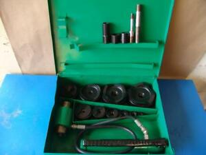 Greenlee 7310 Hydraulic Knockout Punch And Die Set 1 2 To 4 8 31 7