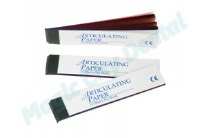 House Brand Dental Articulating Paper Red Blue Combo Pack Of 144 Sheets