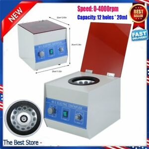 12 20ml Electric Benchtop Centrifuge Lab Medical Practice 4000rpm Widely Used Bh