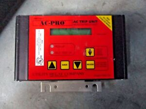 Utility Relay Ac pro Ac Trip Unit Micro controller Based 7161255g Used
