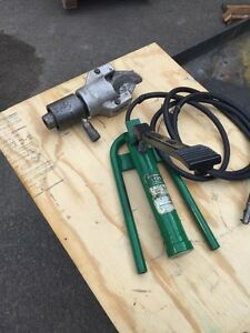 Greenlee 1725 Hydraulic Foot Pump Cable Cutter Head Hose Unit Wire 751 m2 750