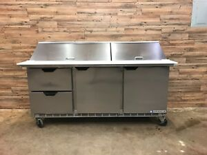 2016 Beverage Air Sped72hc 30m 2 72 Mega Top Refrigerated Prep Table