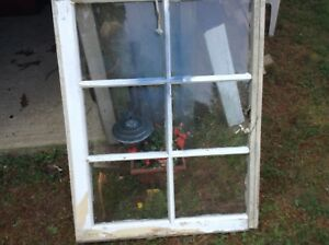 Large Vintage Wood Window And Sash 6 Pane
