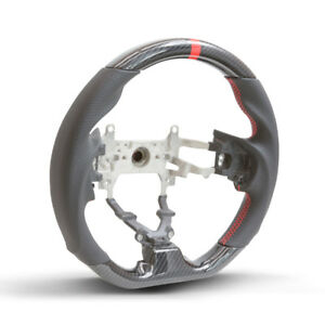 Hydro Carbon Steering Wheel W Red Centering Stripe For 2012 2015 Honda Civic