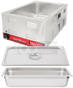 Full Size Electric With 4 Pan Lid Countertop Buffet Food Warmer Commercial
