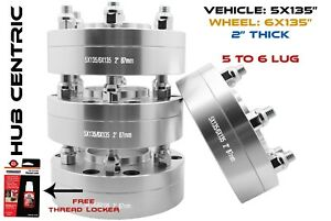 4 2pc Ford F 150 Conversion Adapter 5x135 Mm To 6x135 Mm Wheels 2 14x2 Studs
