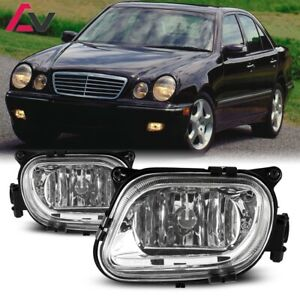 For Mercedes benz W210 96 99 Clear Lens Pair Fog Light Lamp Oe Replacement Dot