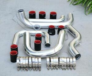 Polished Intercooler Piping S rs Bov Flange Black Coupler Kit For 92 00 Civic