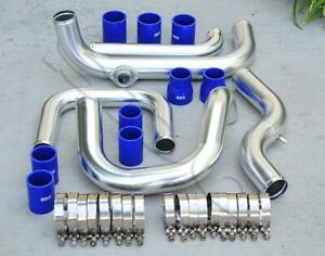 Chrome Intercooler Piping S Rs Bov Flange Blue Coupler Kit For 92 00 Civic