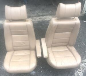 Range Rover Classic Front Rear Seats Gold Leather Original Upholstery 1988 1995