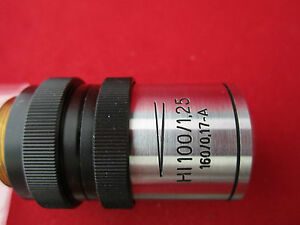 Microscope Objective Optics Hi 100x Zeiss Jena Germany 2 142