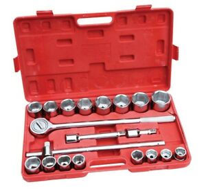 Hilka 21 Pce 3 4 Drive Metric Large Socket Set Ratchet 04102102