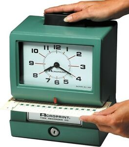 Acroprint Heavy Duty Time Clocks Manual 125rr4 01 1070 41b Time Clocks New