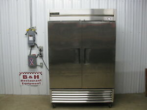 True T 49f Two Door 2 Dr Stainless Steel Commercial Reach In Freezer