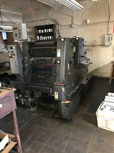 Printing Press 1995 Heidelberg Gto 52 2 Color Perfecting In Perfect Runing Co
