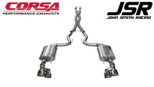 15 17 Mustang Gt 5 0 Premium Corsa Sport 3 Cat Back Exhaust W Polished Tips