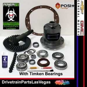 Gm Chevy Posi Limited Slip 8 6 10 Bolt 4 56 Gears Timken Install Kit 2000 2008