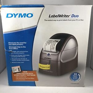 Dymo Label Writer Duo 93105 Thermal Label Printer Never Used Box Has Damage