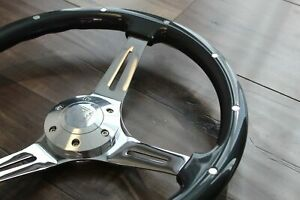 15 Grey Chrome Steering Wheel Mustang C10 Chevy Ford Truck Classic Gmc 6 Hole