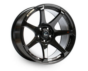 Cosmis Racing Mr7 18x9 25 5x114 3 Black Civic Rsx Mazda3 Sti Evo 350z Accord