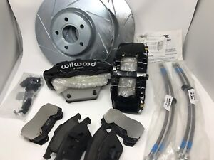 Wilwood 6 Piston Brake Kit For Volvo S40 Rotors Pads Calipers Lines