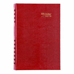 Brownline 2019 Coilpro Daily Appointment Book monthly Planner Bright Red New