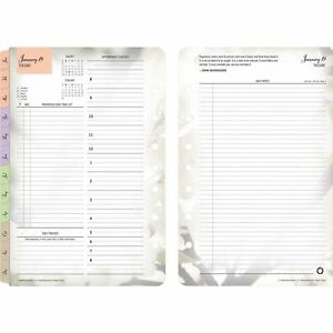 Franklincovey 3544 Blooms Dated Daily Planner Refill January december 5 New