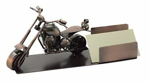 Metal Motorcycle Office Desk Business Card Holder New