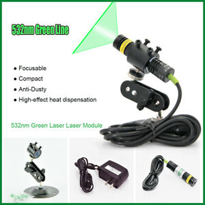 5 12v 532nm 100mw Industrial Green Laser Line Module For Stone wood Cut Locating