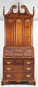 Goddard Townsend Block Front Secretary Desk With Bookcase Newport Style