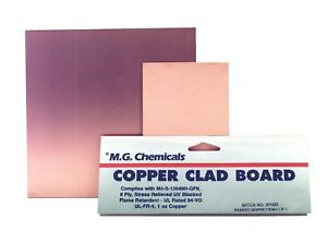 Mg Chemicals Copper Clad Board Single Sided 36 X 24 1 Oz Copper 1 1 New