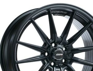 Cosmis Racing R1 18x8 5 35 5x100 Black Non staggered set Of 4