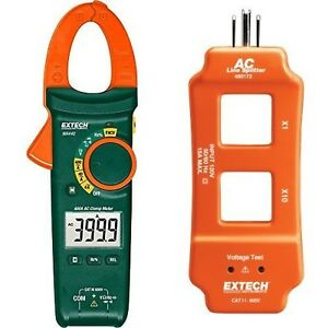 Extech Ma440 True Rms 400a Ac Clamp Meter With Ncv And Ac Line Splitter New