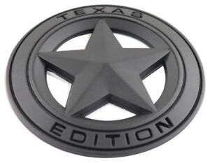 3d Metal Texas Edition Emblem Decal Sticker Star Badge For Truck Black