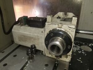 Used Haas Ha5c Brush Style Rotary Table Indexer Red Came Off Haas Vf 2
