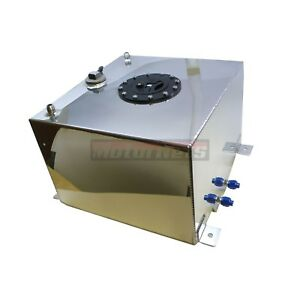 10 Gallon Fabricated Aluminum Fuel Cell Gas Tank With 0 90 Ohm Sending Unit Sbc