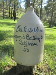 Stoneware Whiskey Jug Bethlehem Liquor Bottling Co Bethlehem Pa 5 Gallon Wow