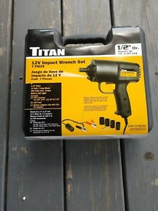 New Titan 12v Electric Impact Wrench Set 280 Ft Lbs Max Torque Free Shipping