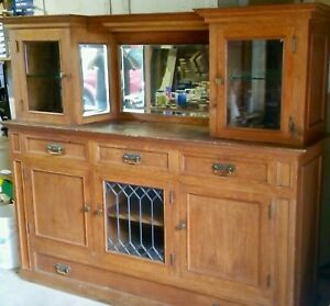 Antique China Hutch Quarter Sawn White Oak